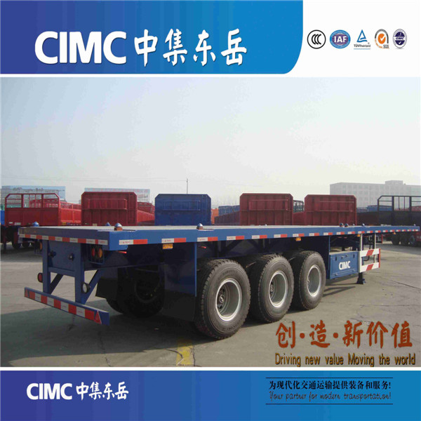 CIMC Semi trailer type and truck trailer used flatbed for sale