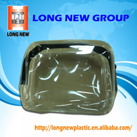 Transparent pvc plastic waterproof bag with black zipper