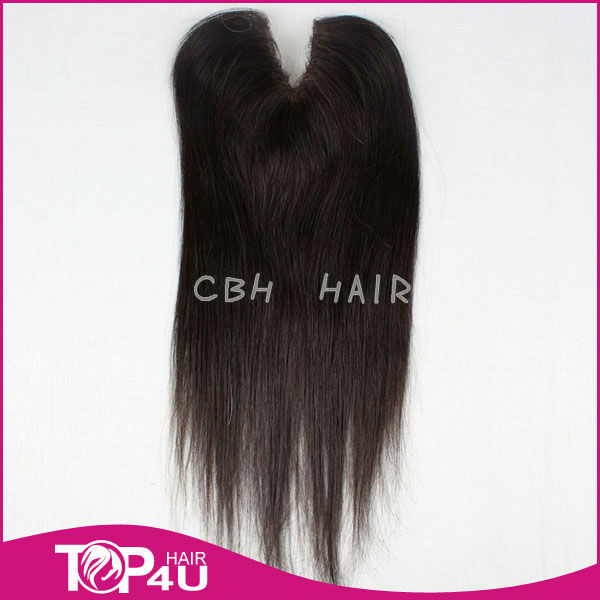 brazilian hair v shape hair closure hair piece extension for white people