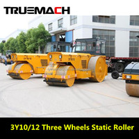 10-12tons Three Wheels Static Road Roller For Sale