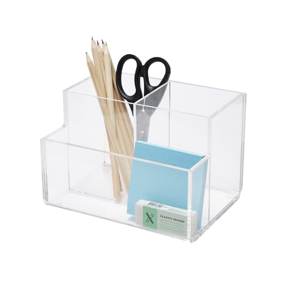 clear acrylic pen stand desk tidy organizers stationery holder