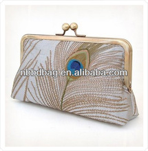 luxury peacock evening purse for party bag