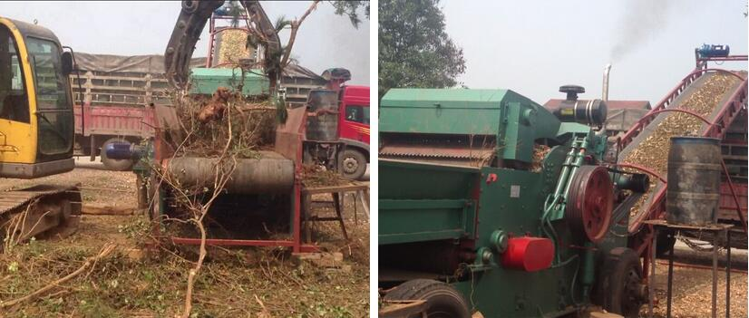 Wood Chipper Cutting Tree Forestry Machine
