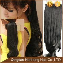 Brazilian 100% Remy Human Hair Ponytails Extension Natural Black Real Brazilian Human Hair Ponytails