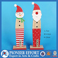 New Product Wooden Snowman and Santa Christmas decoration