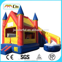 CILE Children Outdoor Toy of Residential Air Bumper Play House with Slide
