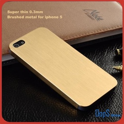 super thin 0.3mm brushed metal titanium housing case metal case for iphone 5