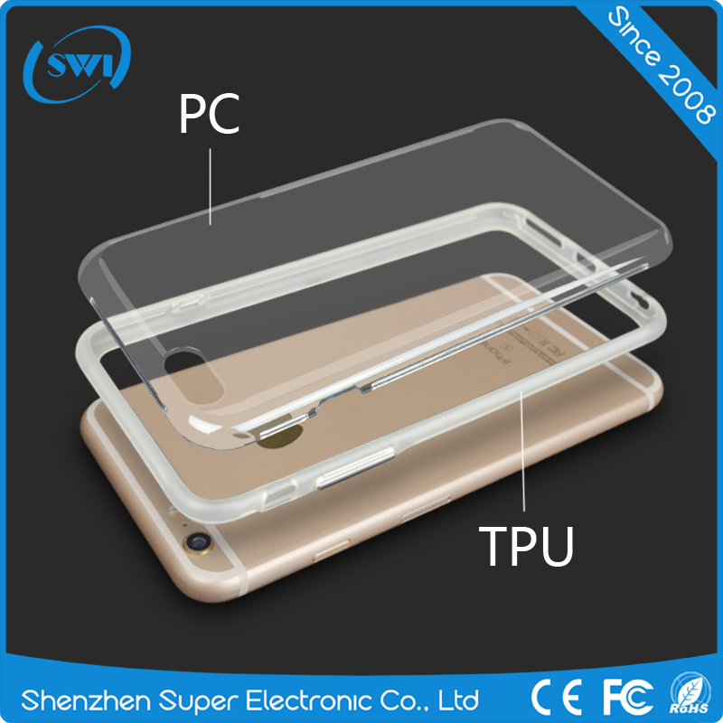 OEM Custom Brand/ LOGO printing Hard Material Blank Pc case For iphone 7 transparent case pc tpu custom print