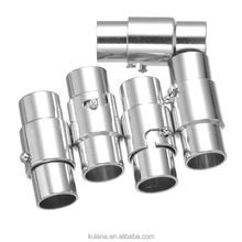 10mm Hole Silver cylindrical Magnetic Clasps Connectors For Jewelry Making