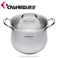Durable cooking induction stainless steel soup pot