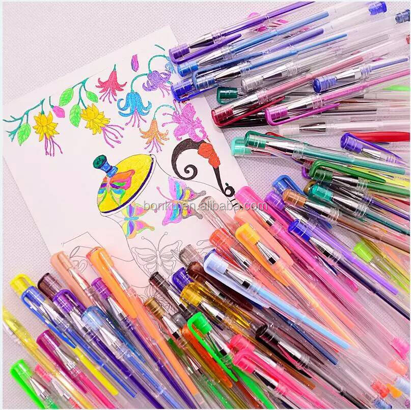 Factory Sale Hot Amazon 48 Colored Pack Glitter Metllic Neon Pastel Gel Pen Set