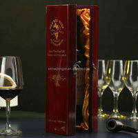 Free Sample Factory Price Wooden Clossy Hinged Wine Box,Wood Wine Case