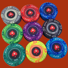 Poker Chips EPT Design 10G Ceramic Playing cards Poker Game Chips