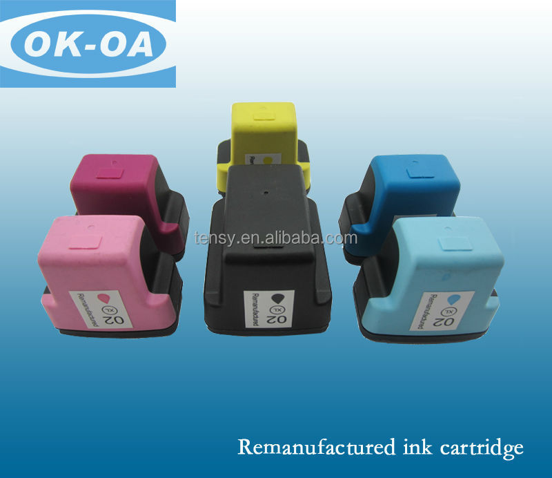 Factory price! refillable ink cartridge C8773WN for HP02