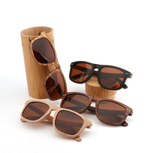 With Lenses Custom Logo Colorful Sun Glasses Bamboo Wooden Polarized Floating Sports Sunglasses