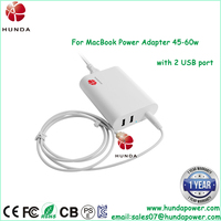 Dual USB port Universal 60w 16.5V 3.65A ac laptop charger adapter for apple macbook A1465 A1466 A1184 A1330 A1344
