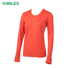 New design wholesale running sports pattern long sleeve t shirt woman