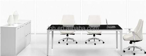 High Top Meeting Table White And Black Modern Meeting Table Guangzhou China(FOH-CXSMH24)