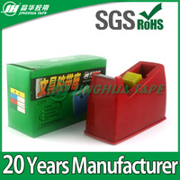 Red stationery tape dispensers