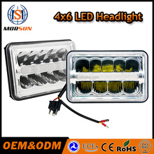 New model Morsun car led headlight 4x6 replacement rectangle headlight hi/lo led sealed beam