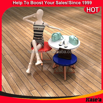 retail clothes display table/round display table/round retail display table
