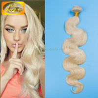 Alibaba Express Factory Price Russian Human Hair Extensions TOP QUALITY Body Wave 613 Blonde Virgin Hair Weaves