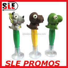 Soft Plastic Promotion Pen Animal /Fruit Cute Dinosaur Pen With Haptor 2016 New Prank Gift