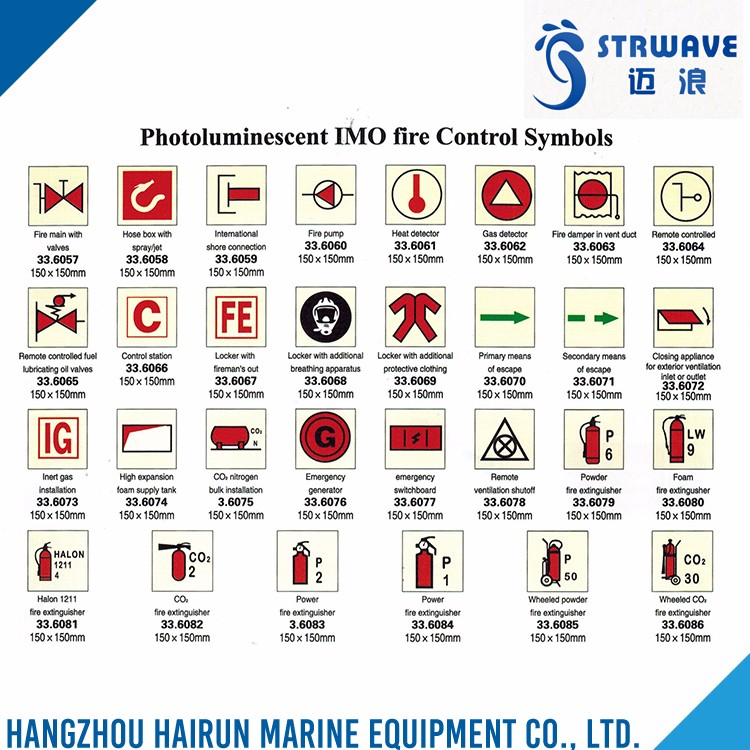 Quality Assured Factory Price Photoluminescent Imo Fire Control