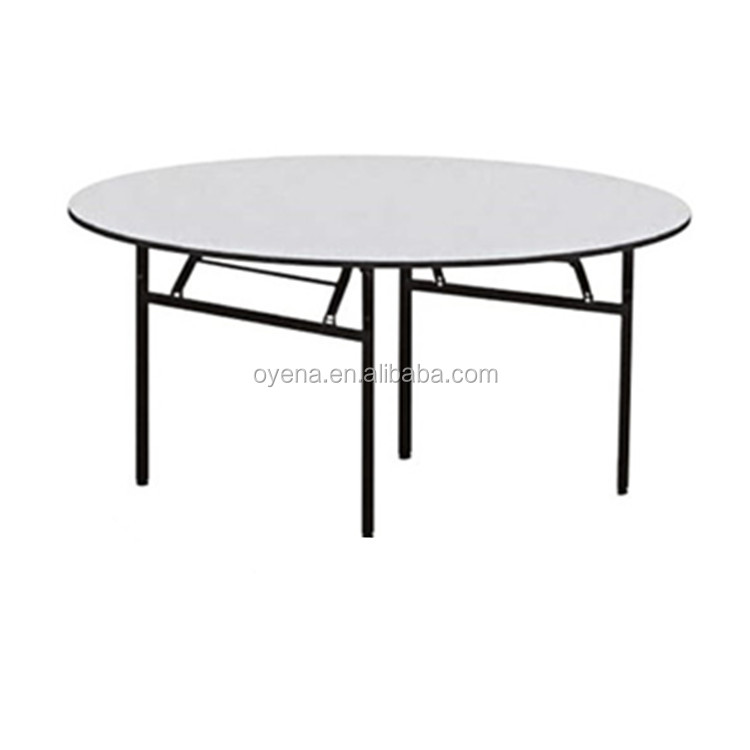 Plastic round dining lifetime banquet table