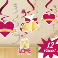 Wholesale Happy Anniversary Hanging Swirls Decorations
