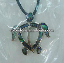 Sea shell turtle necklace,abalone shells wholesale