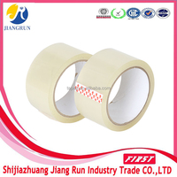42u clear sticky tape clear plastic gum tapes custom parcel tapes