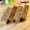 antique wooden pencil case architectural design creative pencil box