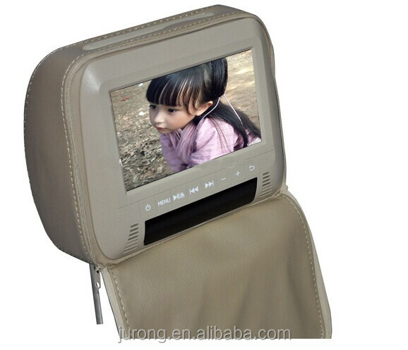 New product 7 inch universal car headrest monitor with touch screen seat back tv for bus