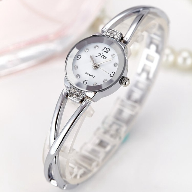 Women Dress watch Ladies Full Steel Quartz Watches Women Wristwatches Bracelet Bangle TOP Brand Luxury Fit Party Korean Style