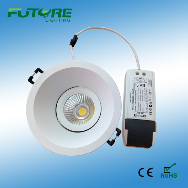 7W,9W dimmable COB downlight,cob led components