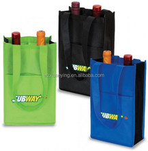 Custom Printed High Quality Wine Bottle Bag With Handles