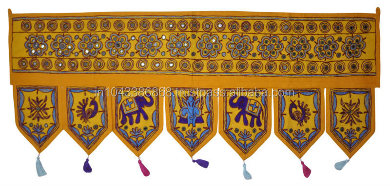 Rajasthani Door Hanging Embroidery Cotton Window Valance Retailer