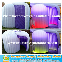 portable lighting photo booth, colorful inflatable cube booth