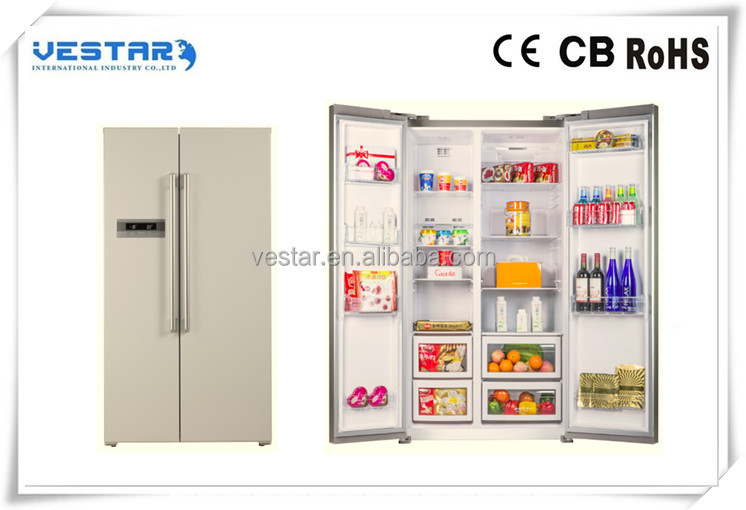 Golden color side by side refrigerator cheap prices fridge refrigerator for sales