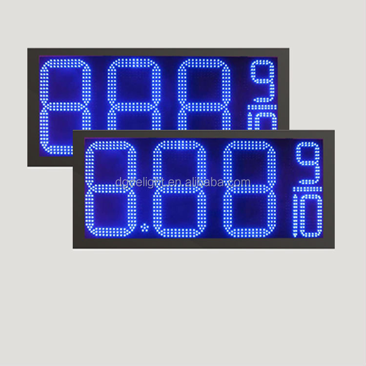 small led clock display/ oil gas station led price sign/ gasoline price.price led sign