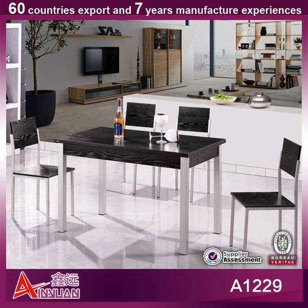 A1229 popular and portable cheap price dining table and chair