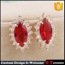 High quality latest zinc alloy diamond crown designs earring with crystal, fancy women earring for part wholesale