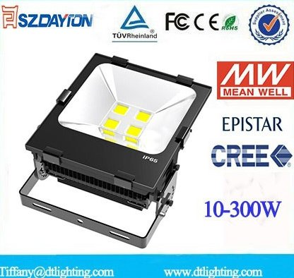 New arrival IP65 Meanwell driver waterproof 10W-300w alibaba china outdoor led flood light