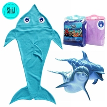 ShiJ 2017 Dolphin Blanket Made Of Soft Polar Fleece,The Perfect Blankie For Kids .Give the Gift Your Little Dolphin Will Love