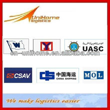 To Southeast Asia/South America Shipping line