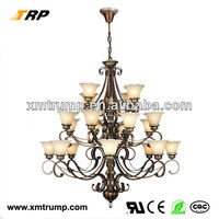 Large decoration brown glass unique dining room lighting