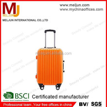 2015 high quality Orange hard ABS hard trollery luggage case
