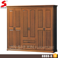 Foshan home furniture 3 4 5 6 doors simple wooden MDF wardrobe design