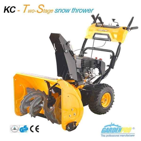 Two stage gas snow thrower, LONCIN engine 420cc, electric starter
